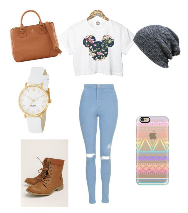 """""""Untitled #6"""" by noam-lotenberg ❤ liked on Polyvore featuring beauty, Casetify, Topshop, Kate Spade and Tory Burch"""