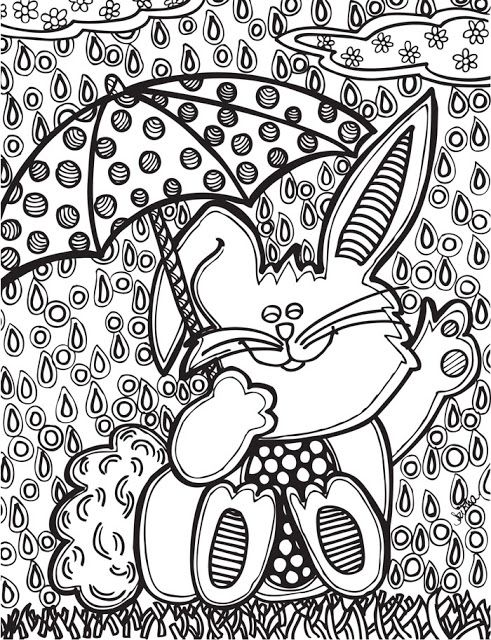 Abstract Doodles Easter Coloring Pages Easter Printables Free Easter Colouring