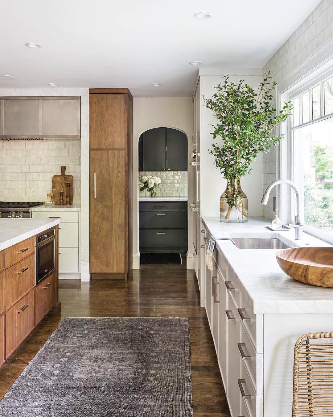 3 Different Kitchen Cabinet Finishes That Work Well Together Simple Kitchen Cabinets Kitchen Style Home Decor Kitchen
