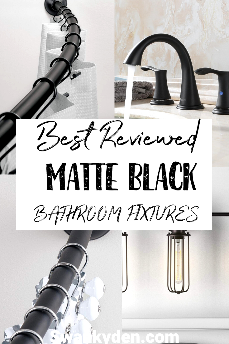 Must Have Matte Black Bathroom Fixtures - SwankyDen.com