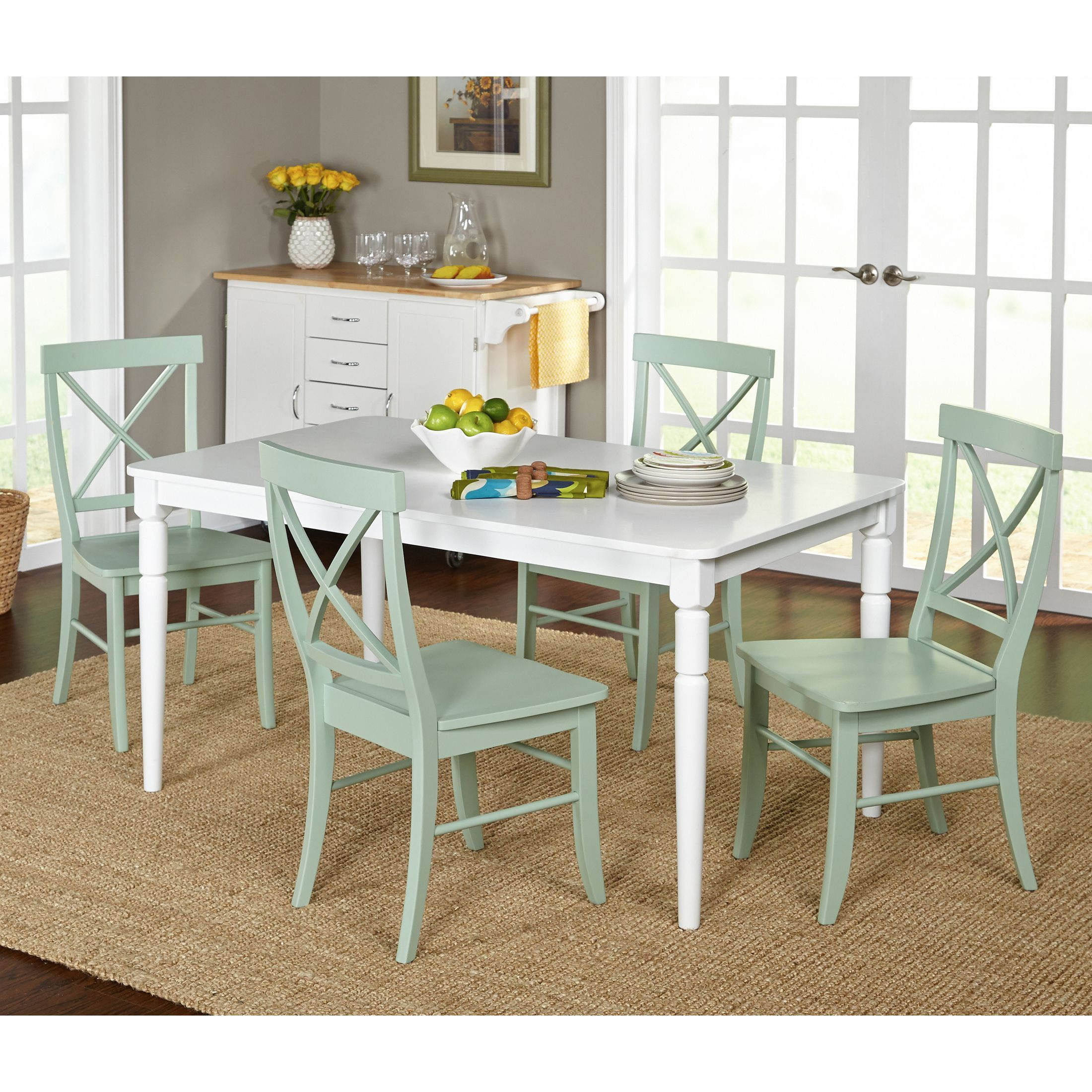 The Albury 5 Piece Dining Setsimple Living Exudes Country Chic Prepossessing Simple Dining Room 2018