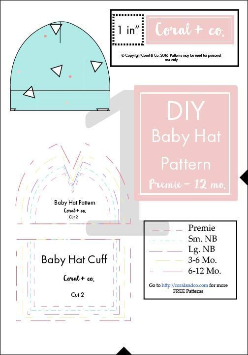 Easiest Baby Hat Sewing Pattern EVER! | Pinterest