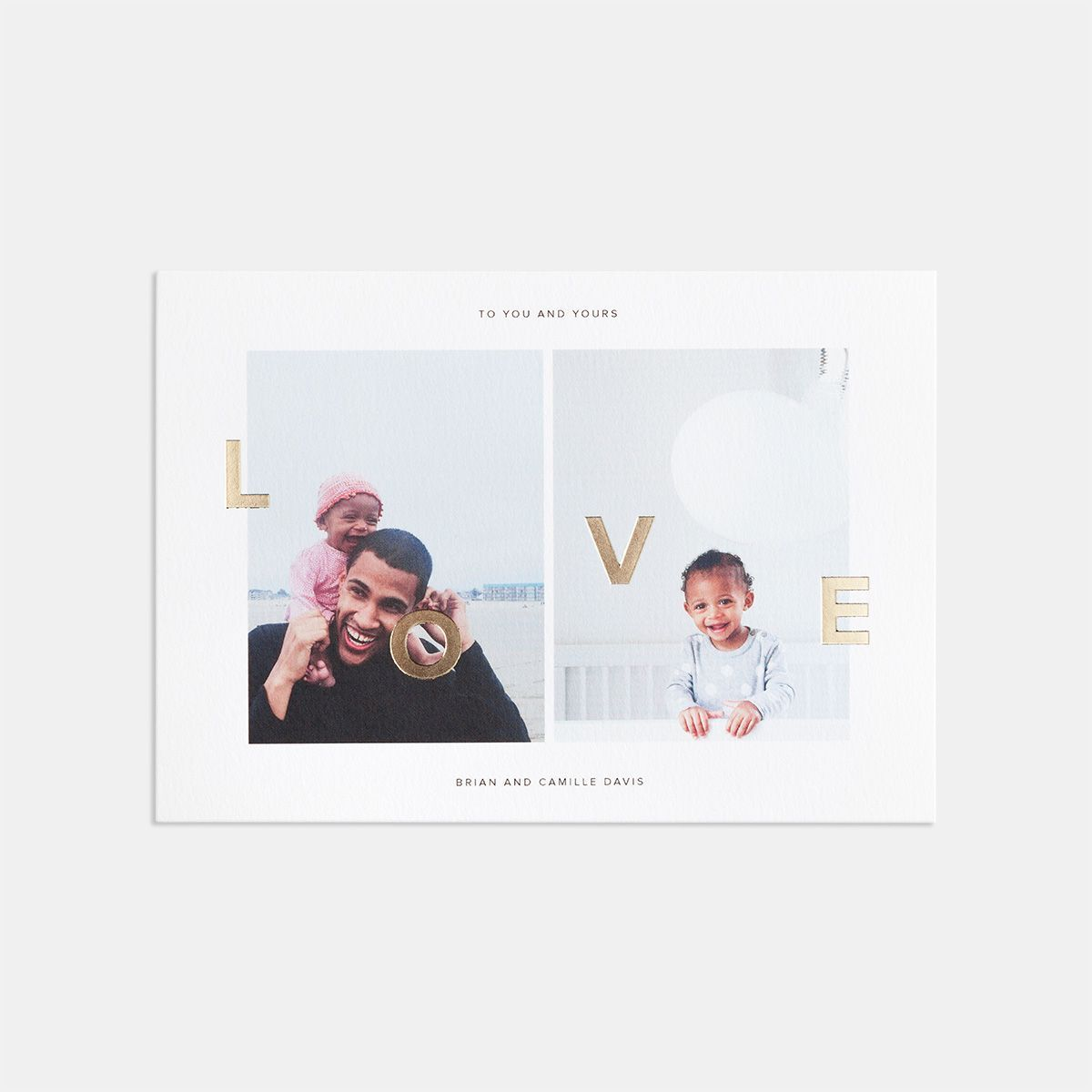 duo image love card with foil holidays