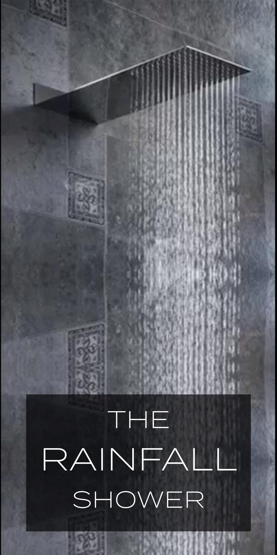 Der Regenduschkopf Rainfall Shower Bathroom Design Luxury