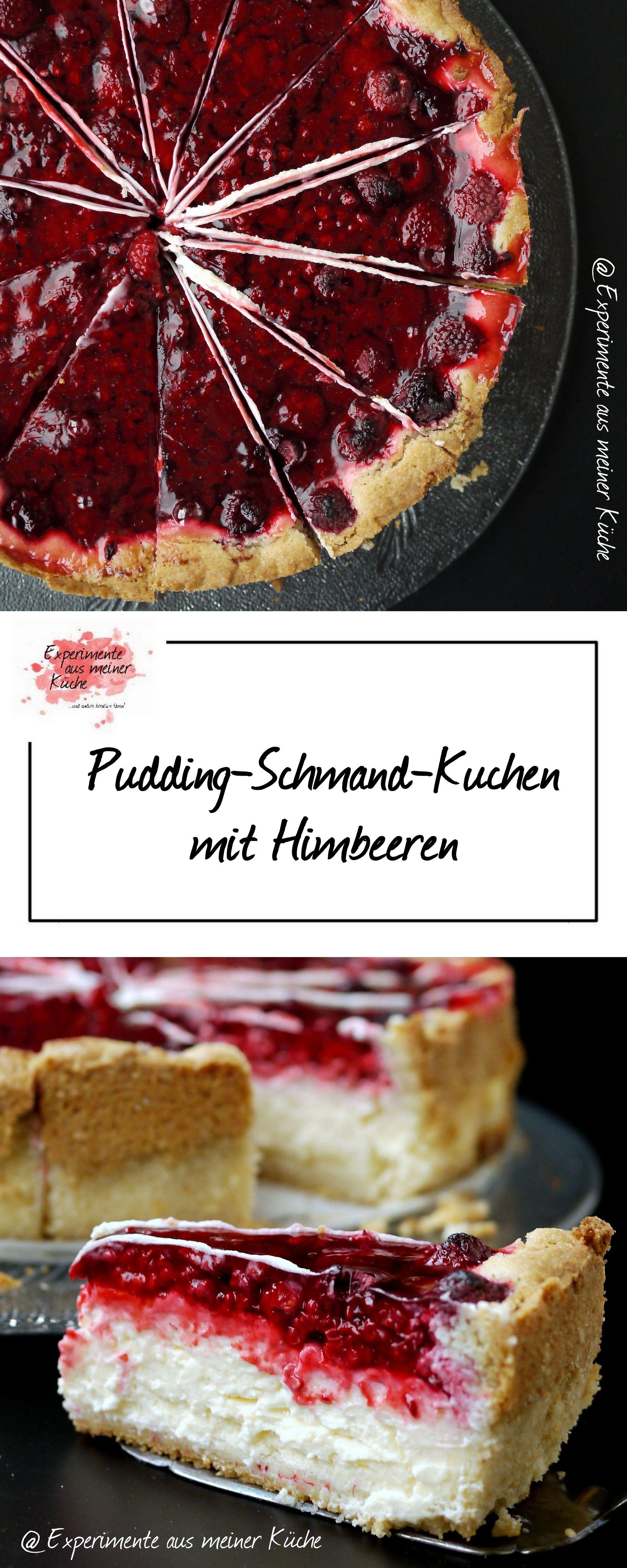 Pudding Schmand Kuchen Mit Himbeeren Backen Kuchen Himbeer
