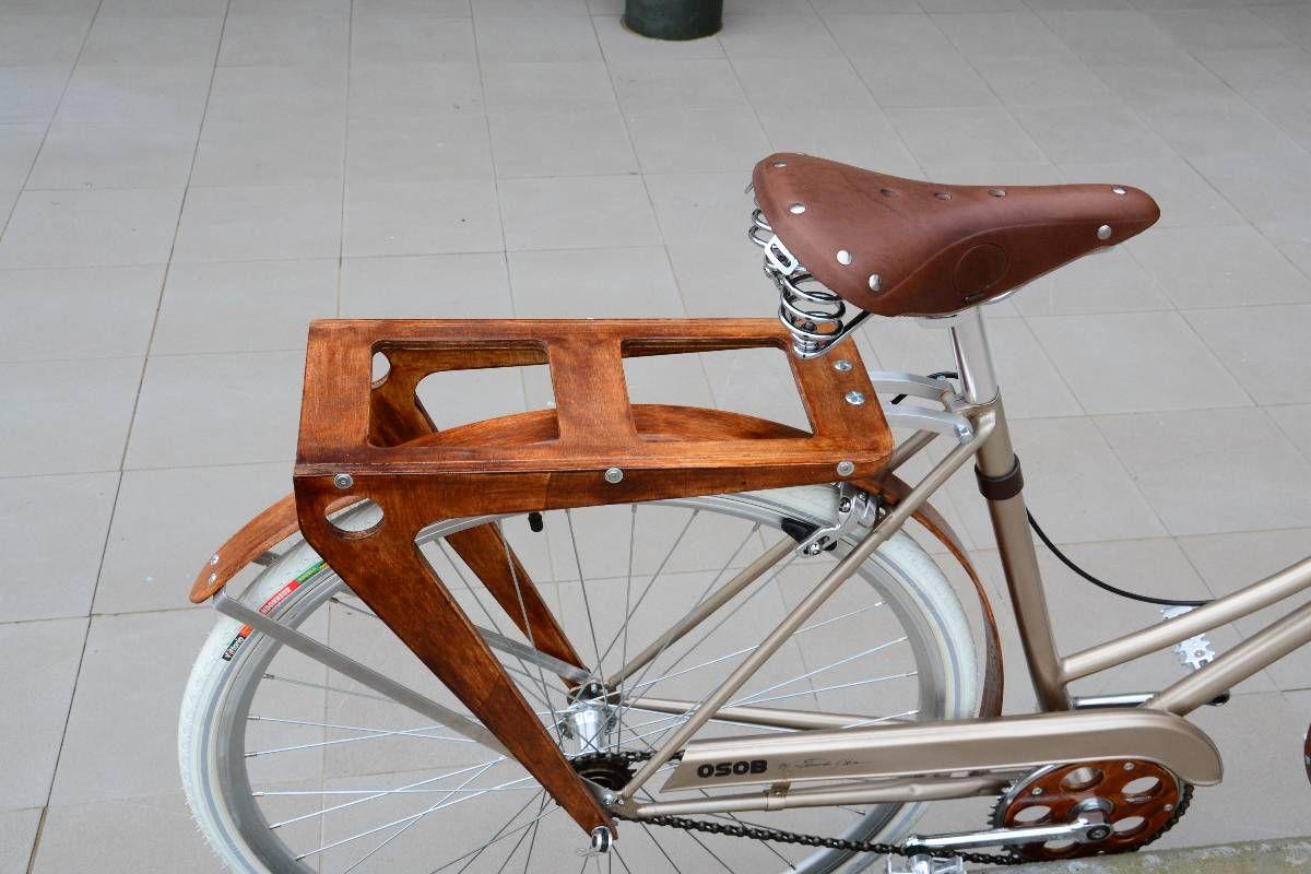 Osob Wood Rear Rack Rear Bike Rack Wood Bike Wooden Bicycle