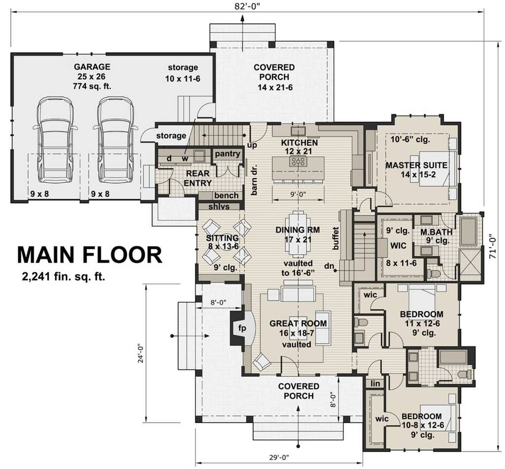 New Milford 2447 3 Bedrooms And 2 Baths The House Designers
