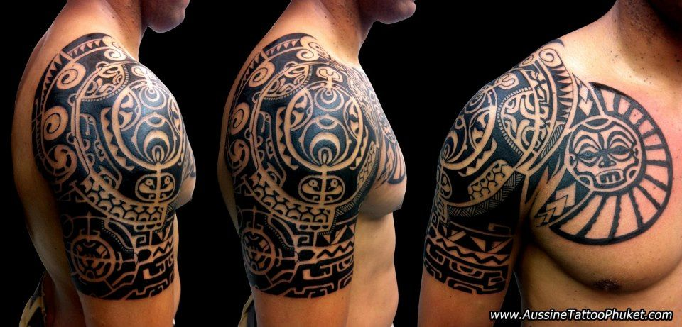 polynesian tattoo chest to shoulder best of massive tattoo rh pinterest com polynesian shoulder tattoo male polynesian shoulder tattoos for men