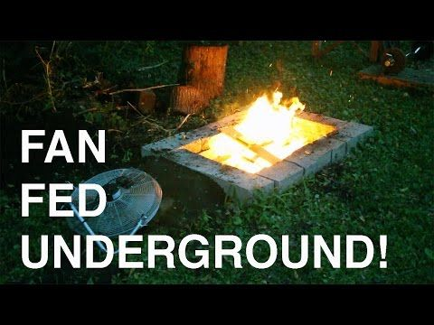 Dakota Fire Pit Boosted With A Fan Youtube Dakota Fire Pit