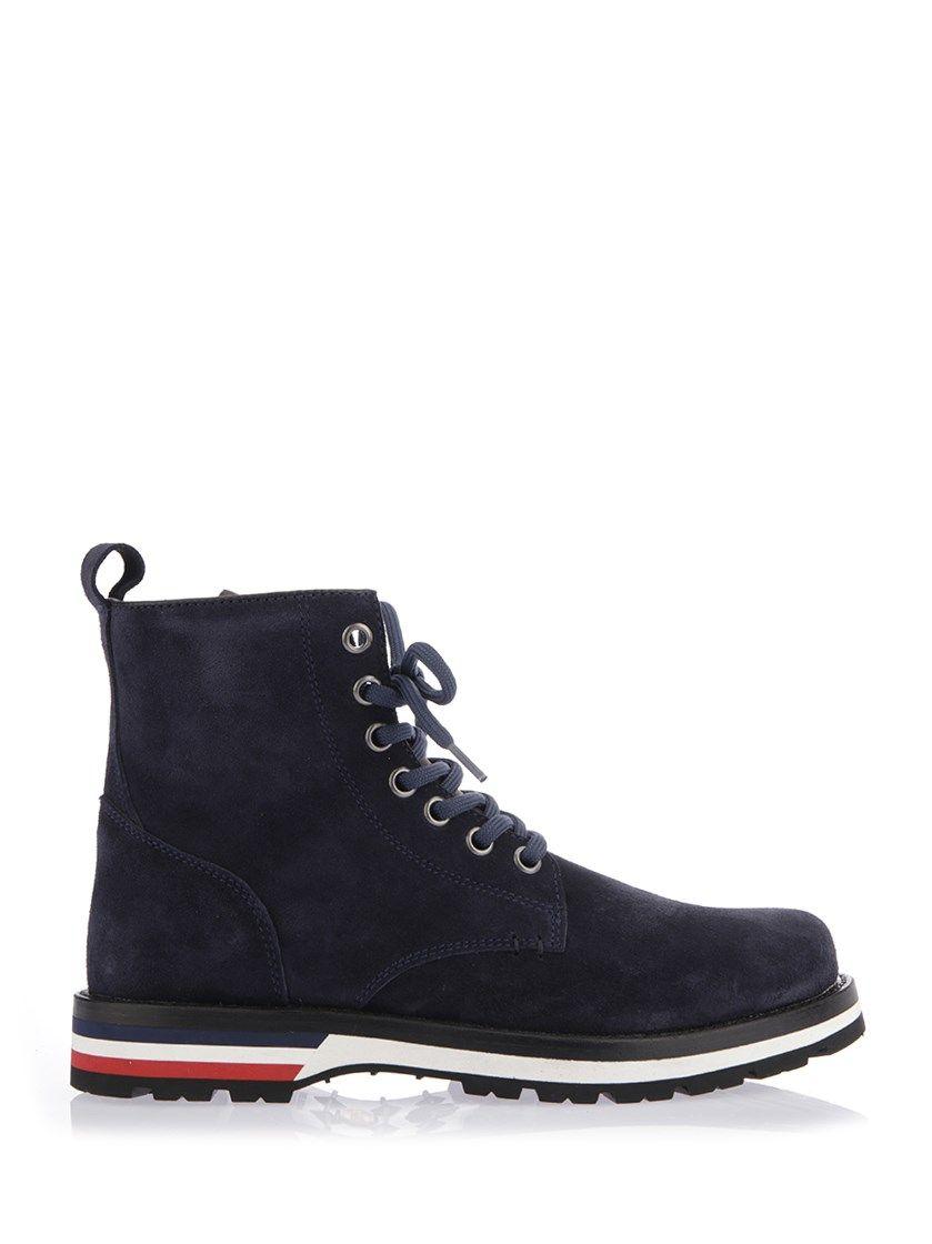 14d589091816 MONCLER Blue Suede New Vancouver Boots.  moncler  shoes  boots ...