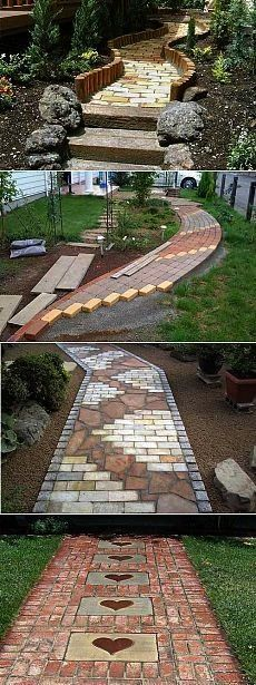 tips  Brick garden paths 55 Cottagechki tips  Brick garden paths 55  With the Garden Path Maker Mold you can create a gorgeous cement or red mud garden path to enhance th...