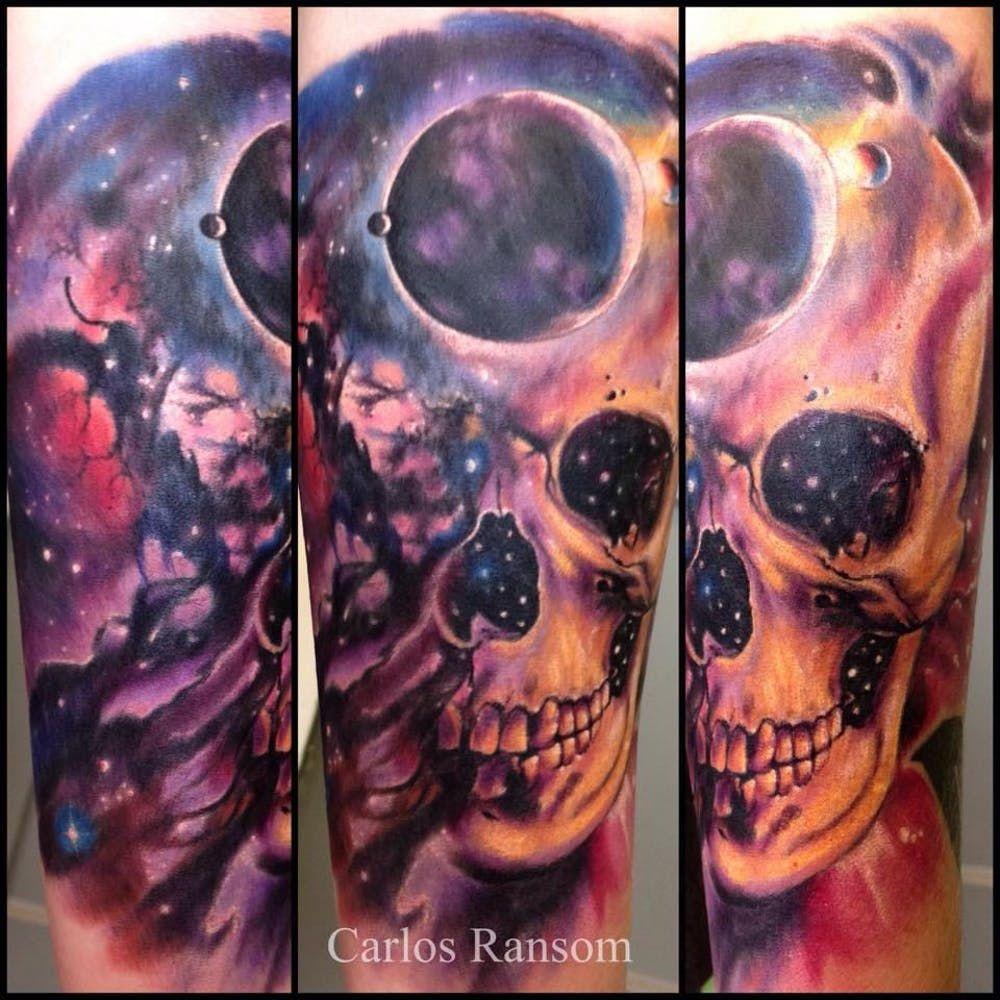 Amazing cosmic tattoos by carlos ransom cosmic tattoo