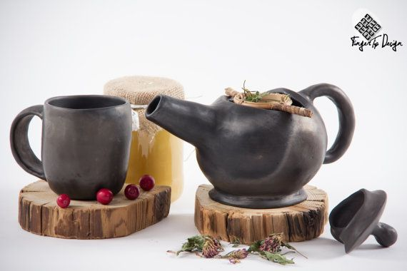 Black pottery teapot is made in kiln in heat more than 1000 Celsius degree (more than 2500 Fahrenheit degree). We can bet that tea will taste