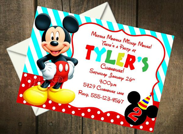 Mickey Mouse Invitation Template - 23+ Free PSD, Vector EPS, AI - mickey mouse invitation template