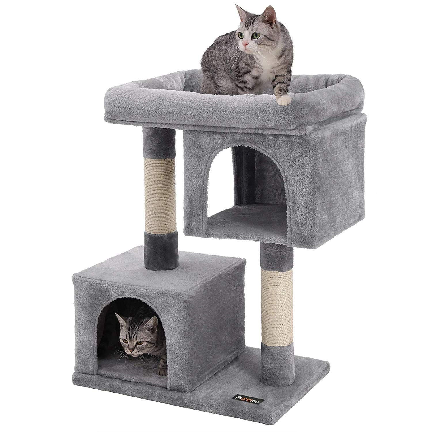 The Cutest Cat Condos You Can Get On Amazon Cool Cat Trees Cat Tree Condo Cat Condo