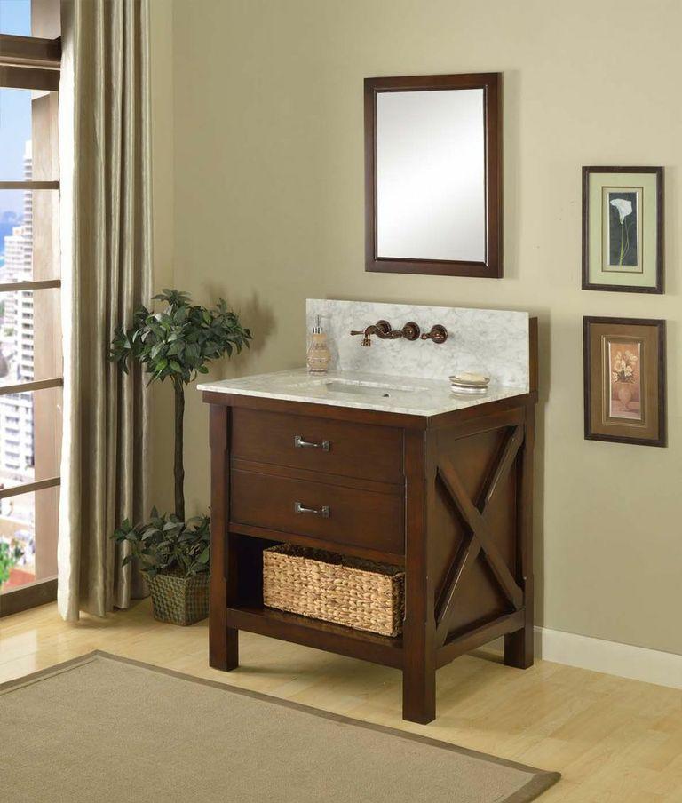32 Inch Bathroom Vanity Single Sink Vanity Vanity Sink Mission
