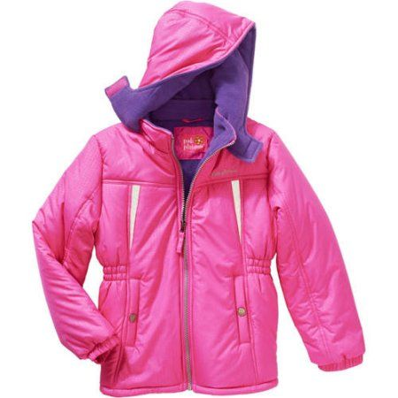 1d5e2074093 Pink Platinum Girls' Stamp Print Active Jacket with Pockets, Size: 7 ...