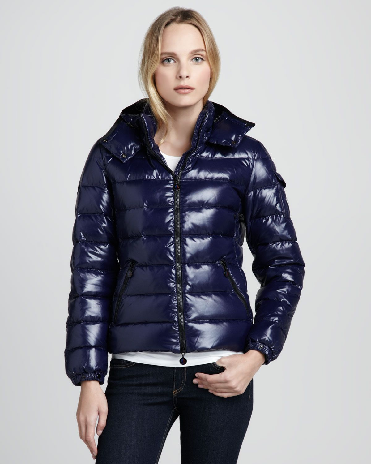 cf20f9903 Moncler Bady Short Puffer Jacket in Blue