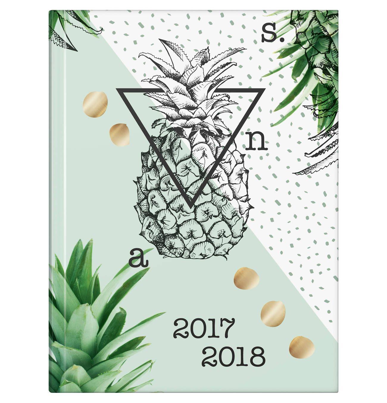 """Der Kalender """"Ananas"""" von BRUNNEN besticht mit seinem coolen Ananas-Motiv (12x16 cm)"""