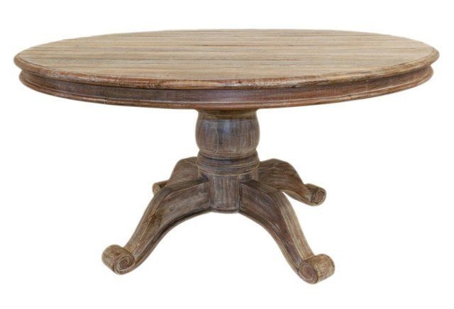 Ames 60 Inch Round Table Reclaimed Wood Round Dining Table