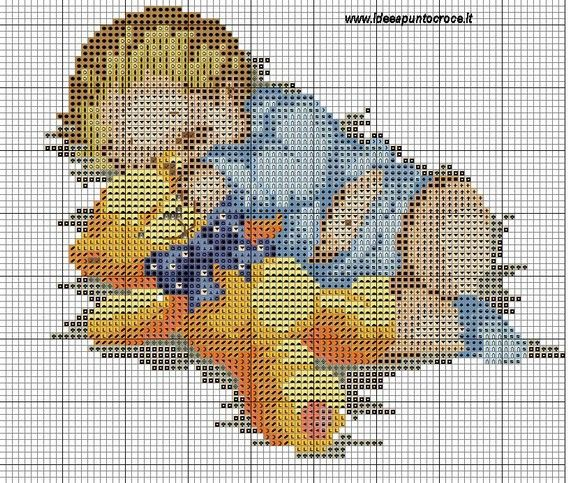 Download schemi idee a punto croce cross stitch for Idee punto croce neonati