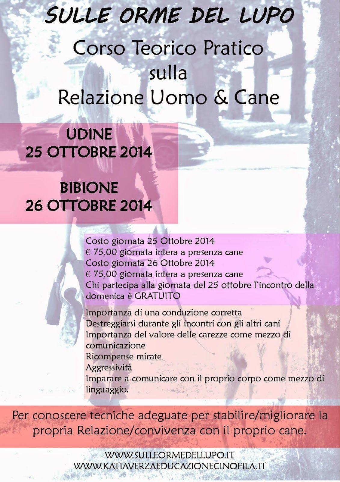 Katia Verza: 25 - 26 OTTOBRE 2014 UDINE - BIBIONE CANE & PADRON...