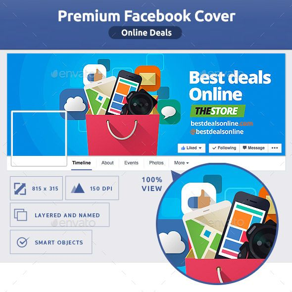 Online Deals Fb Cover  Facebook Cover Template Creative Facebook