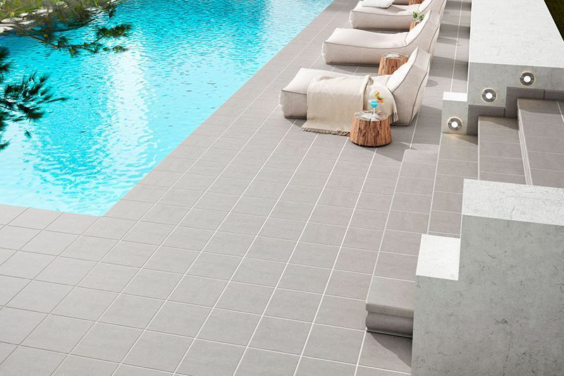 Gresmanc pavimento exterior outdoor tiles color grey for Ceramica para exteriores