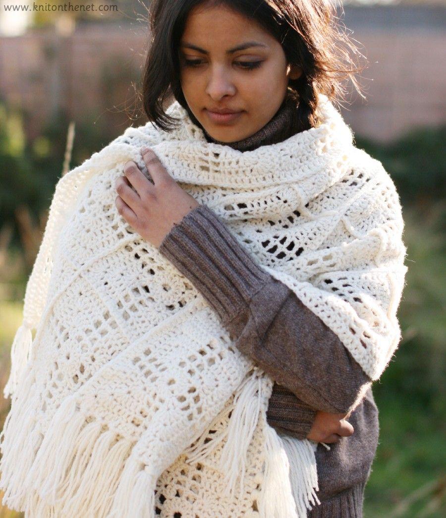 Granny Square Shawl free pattern   CrochetHolic - HilariaFina ...