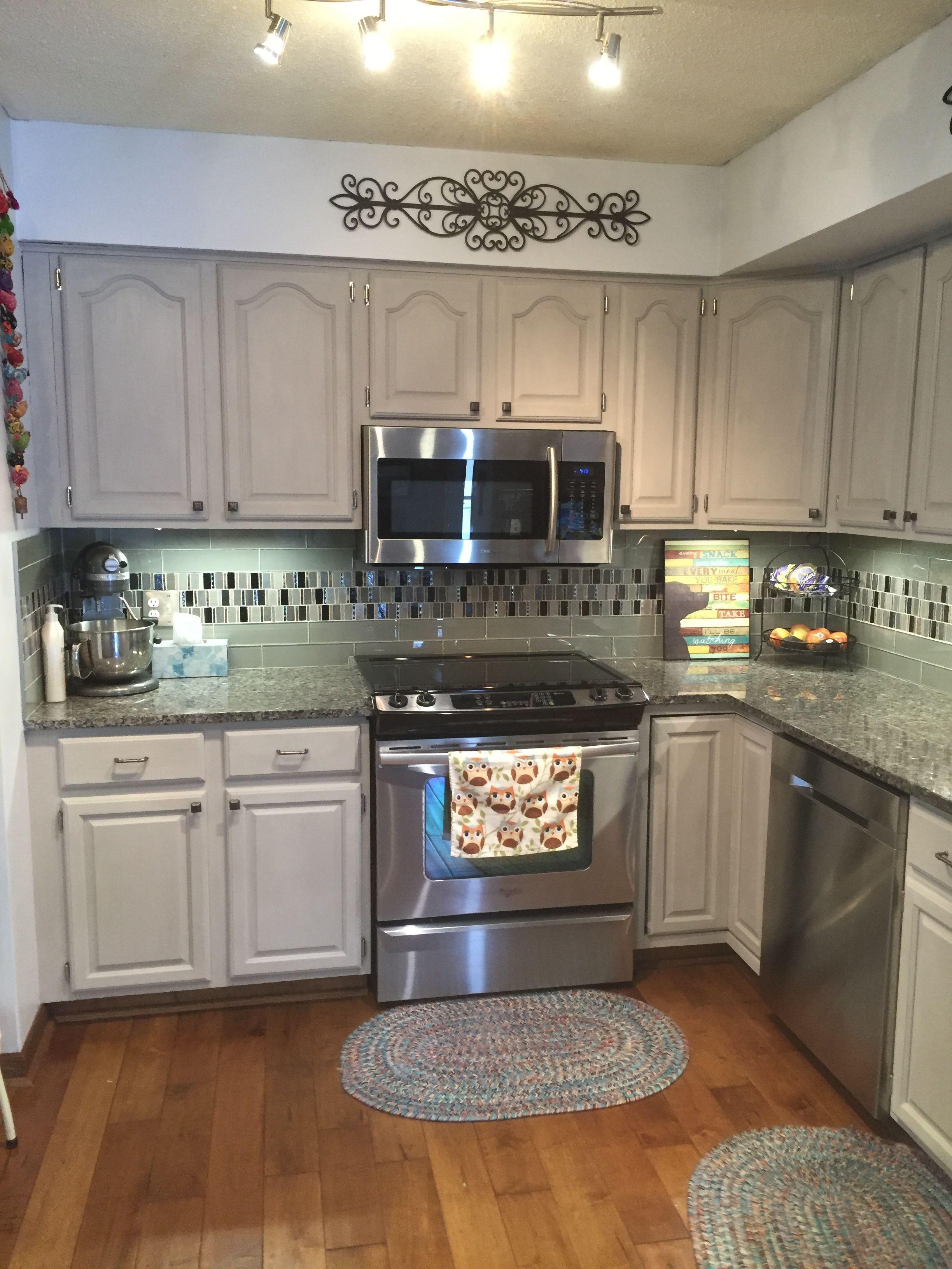 Kitchen cabinets- ASCP Pure White/French Linen | Kitchen ...