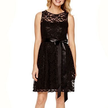 jcpenney.com | Simply Liliana Sleeveless Lace Fit-and-Flare Dress