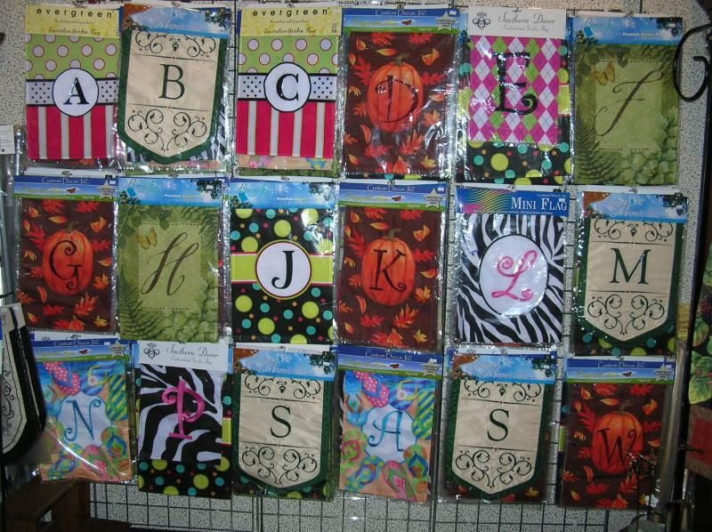 Monogrammed Garden Flag Add your own personal touch to your garden