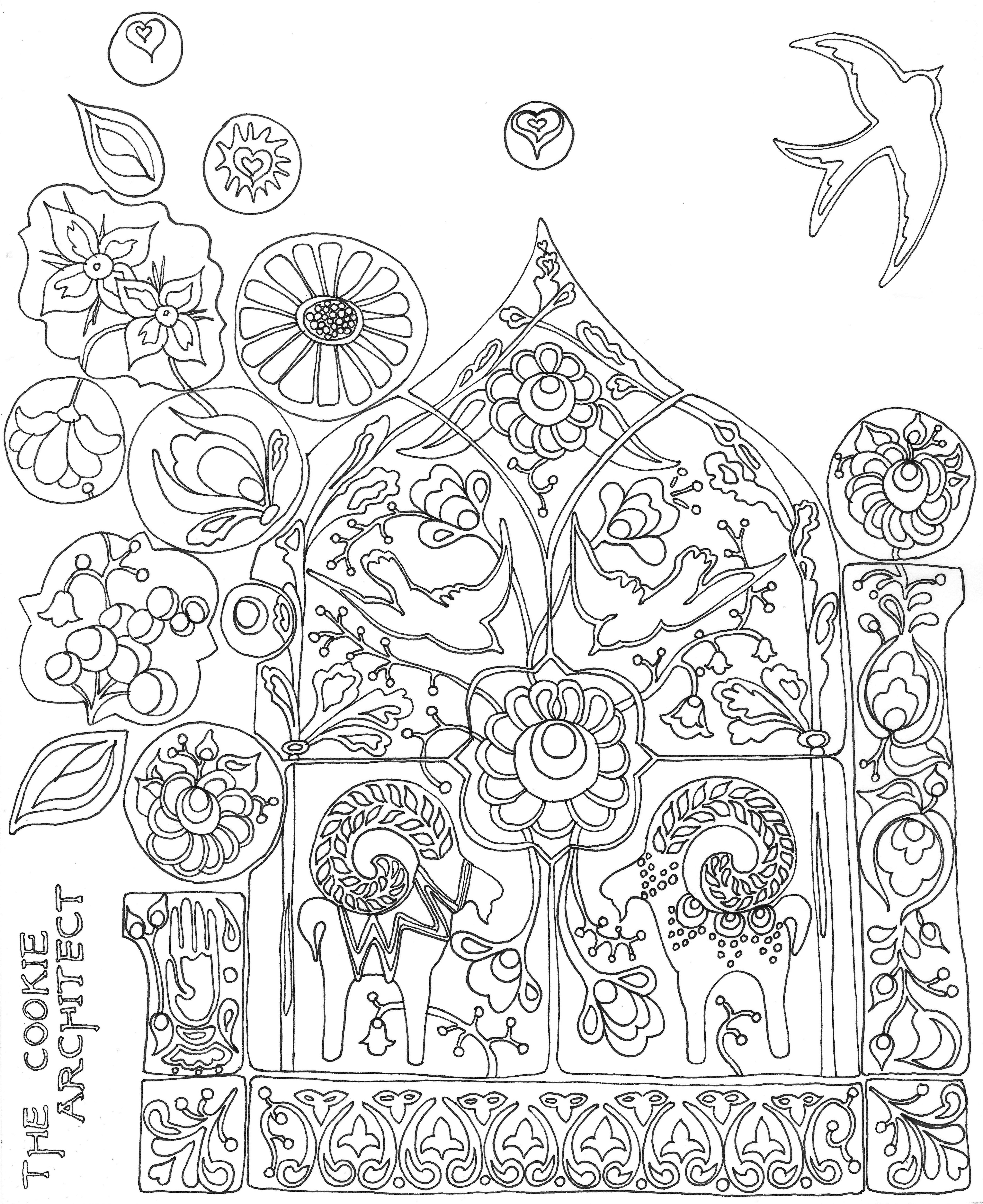 Encantador Cookies Para Colorear Imprimibles Colección - Dibujos ...