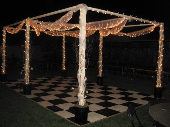 Dance floor lighting   My Wedding   Pinterest   Outdoor ...