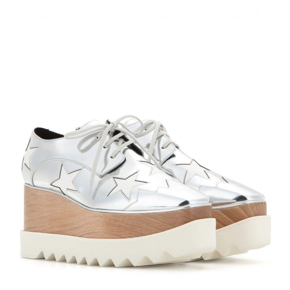 822736e9aef Stella McCartney - Britt metallic platform derby shoes - mytheresa ...
