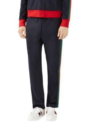 gucci joggers. gucci technical jersey jogging pant with web. #gucci #cloth #web gucci joggers