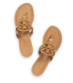 Tory Burch sandal Pictured: Sand Tory Burch Miller Sandal, Patent Leather (