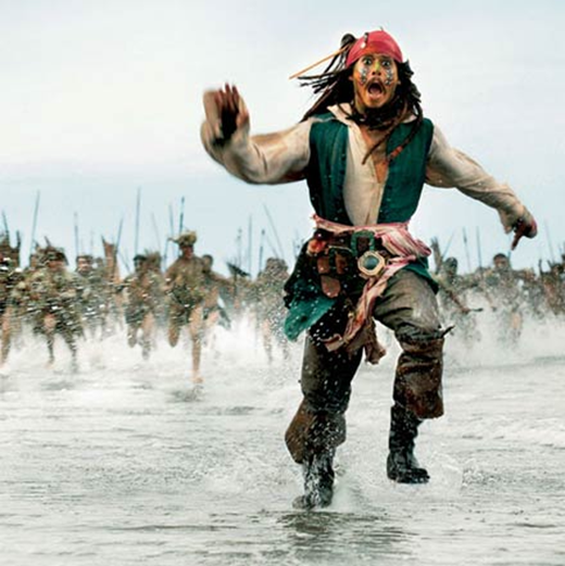 this is the first thing  I automatically think of when I hear Jack Sparrow or Pirates of the Carribean