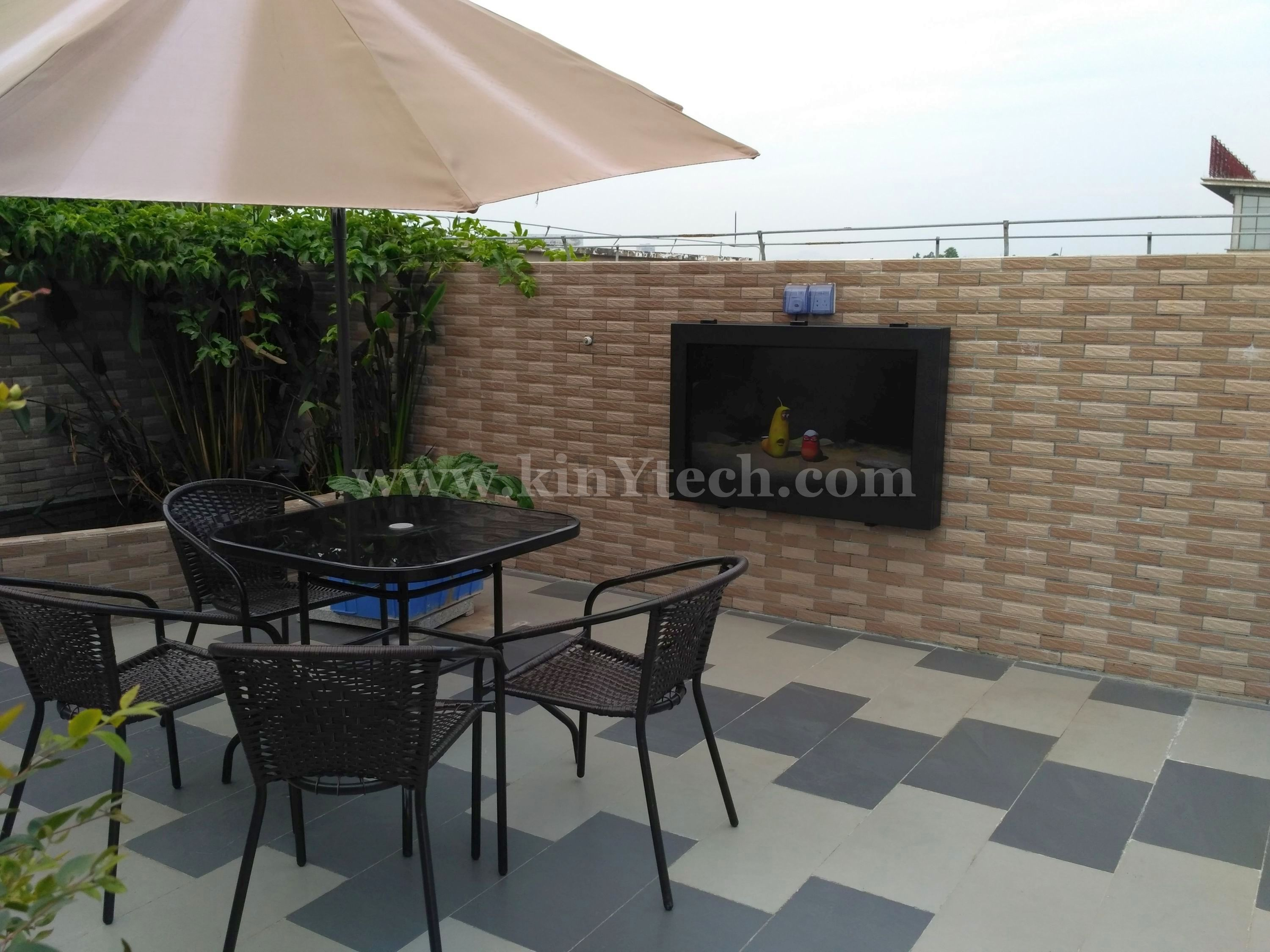 Marvelous Outdoor TV Box From Kinytech China.,waterproof TV Case,outside TV Cabinet