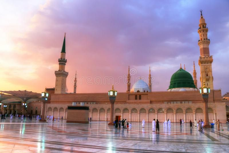 Medina Saudi Arabia May 30 2015 Prophet Mohammed Mosque Al Masjid An Nabawi Royalty Free Stock Images Medina Saudi Arabia Al Masjid An Nabawi Masjid