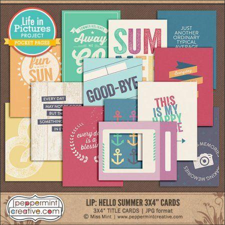 "LIP: Hello Summer 3x4"" Title Cards"