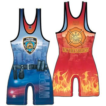 f1e04a7072c3a Brute NYPD FDNY Reversible Stock Sublimated Singlet -