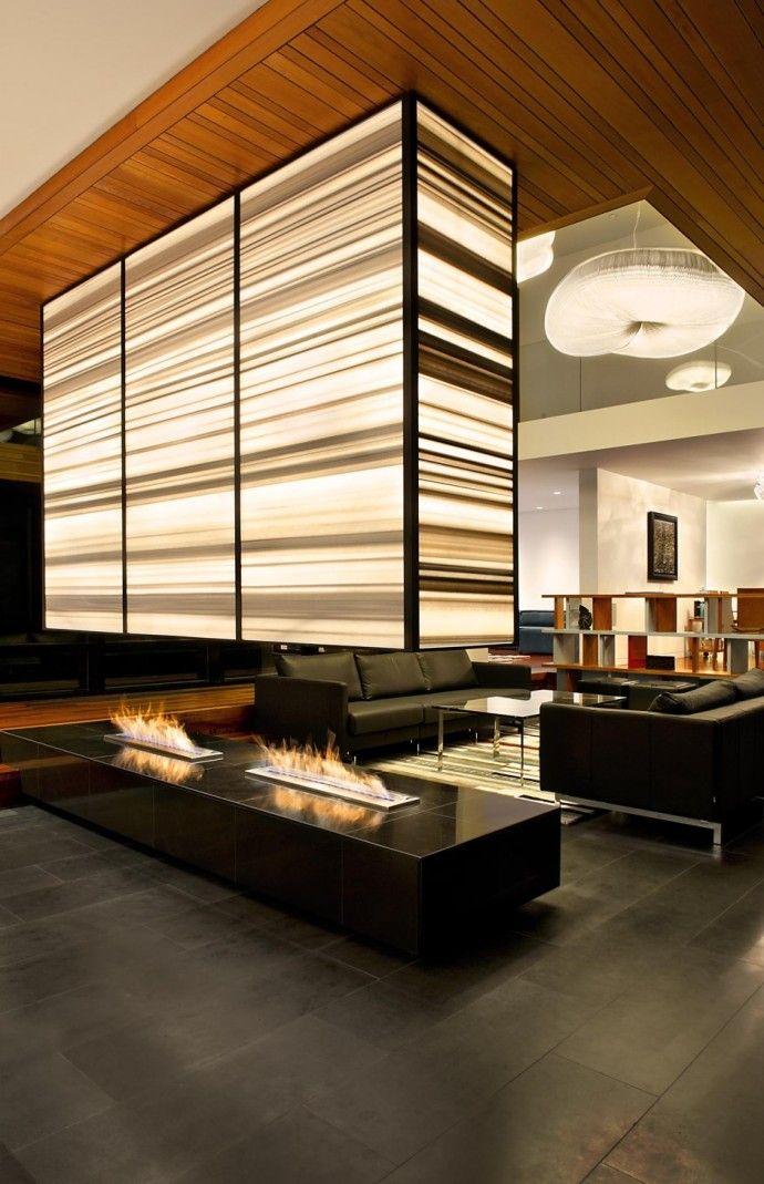 Top 20 des plus belles chemin es interieur pinterest maison d co maison et salon maison - Cheminee interieur maison ...