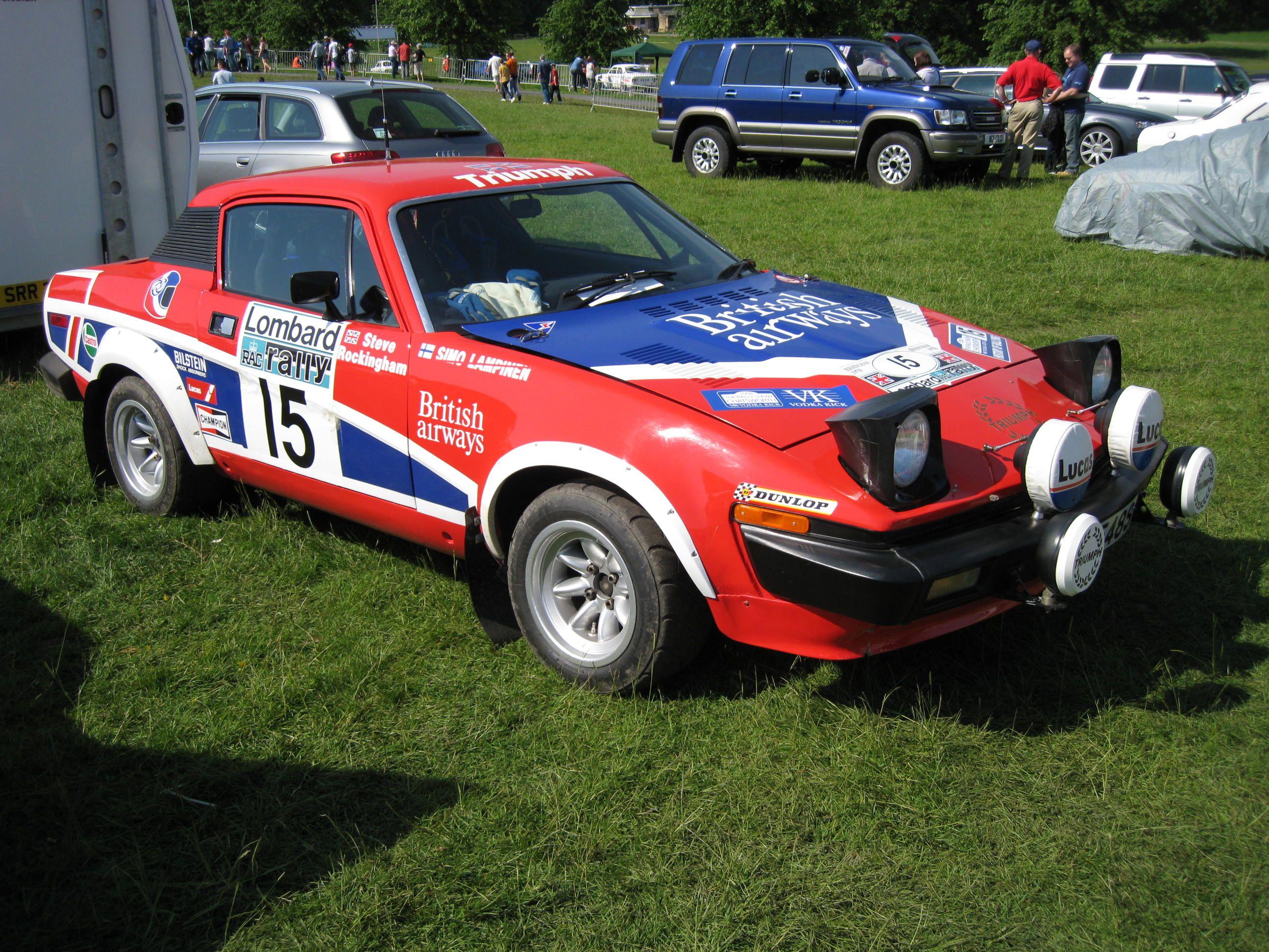 Triumph TR7 V8 at Chatsworth   Tr7   Pinterest   Rally, Rally car ...