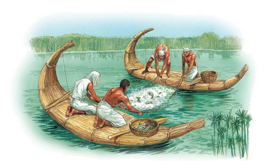 Fishing on the nile q files o ancient people for Hunting and fishing times