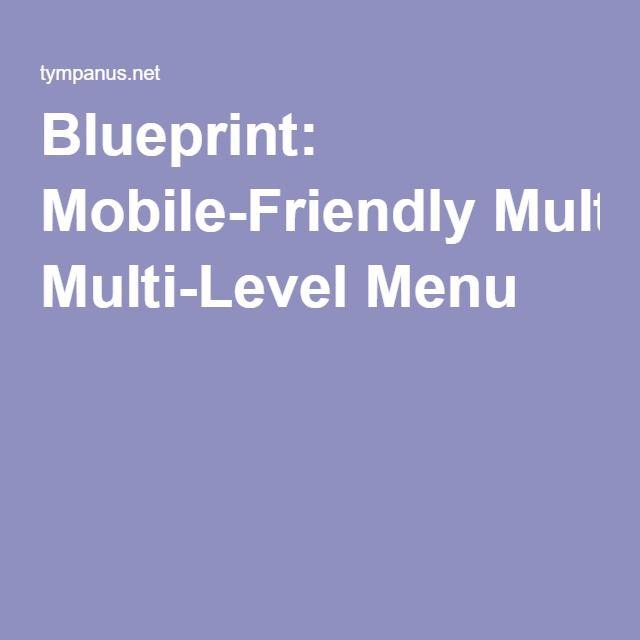 Blueprint Mobile-Friendly Multi-Level Menu HTML ^^ Pinterest Menu - best of blueprint background slideshow