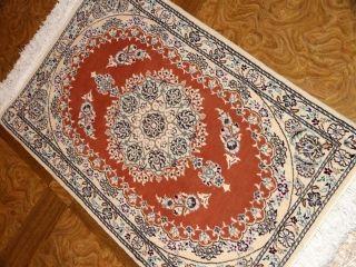 サーモンピンクのおしゃれ玄関マットペルシャ58058、はっきるしてるデザインペルシャ