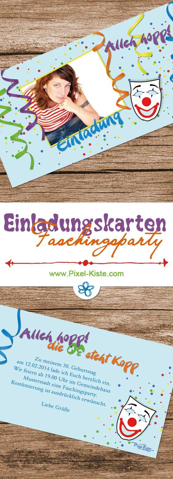 Einladungskarten Zur Faschingsparty, Geburtstag, Mottoparty, Karneval,  Fastnach Individuell Gestaltet Ab 0,