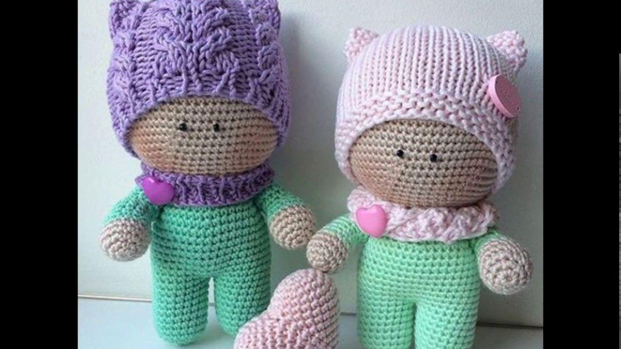 Bellisimos muñequitos para bebe tejidos a crochet | crochet ...