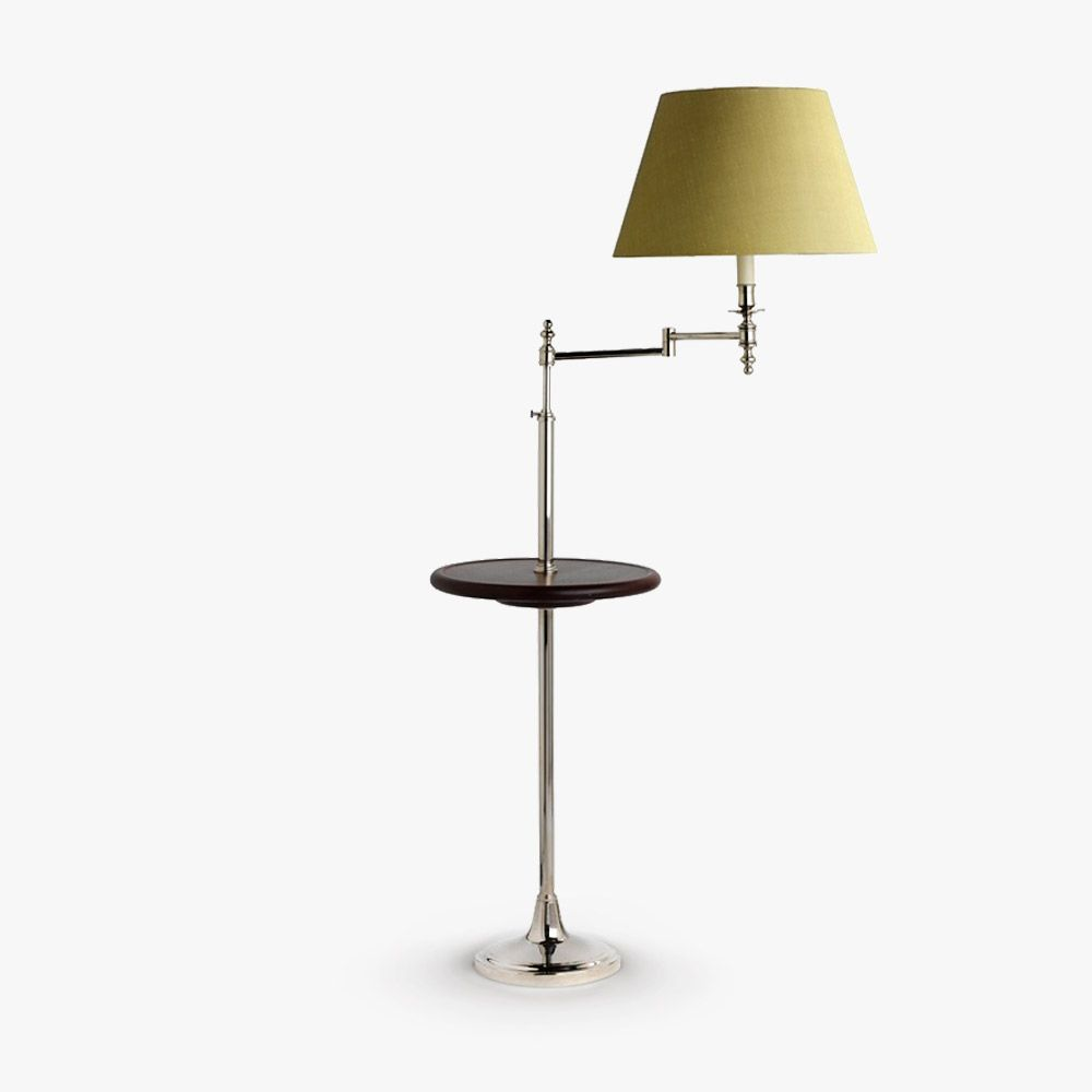 Swing arm with table slinfold pinterest swing arm floor lamp floor lamp swing arm with table aloadofball Image collections